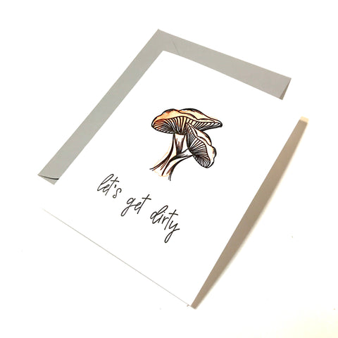 shroom cards - let's get dirty