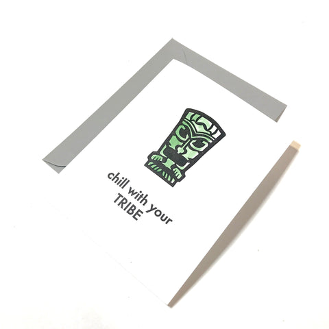 tiki cards - chill with your tribe