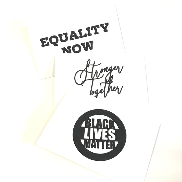 printed goods - activist wear - BLM postcard pack