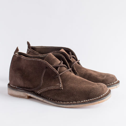 Kids Dark Brown Suede Vellies - Kids Freedom Vellies Collection