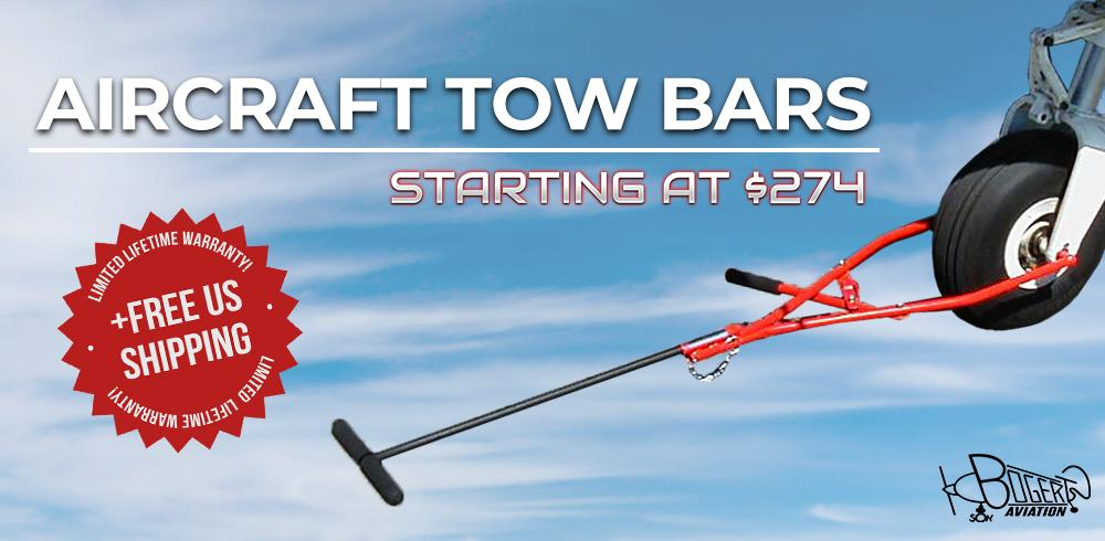 Bogert Aviation Nose wheel & Tail wheel Tow bar