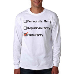 republican party democratic party or pizza party long sleeve shirt