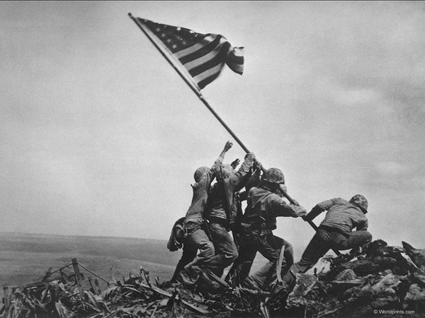 American flag world war 2 at iwo jima