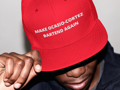 Make Ocasio-Cortez Bartend Again Hat - Red Trump Hat