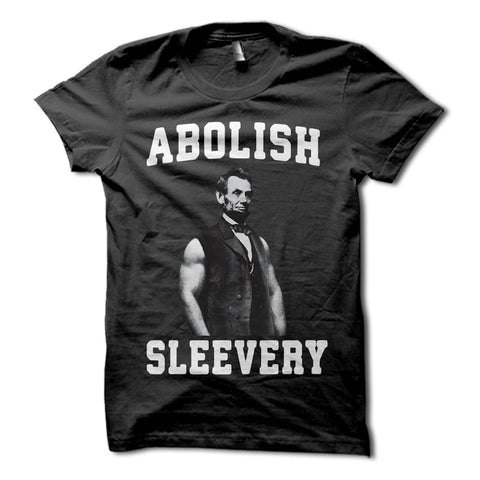 Abe Lincoln abolish sleevery shirt - black