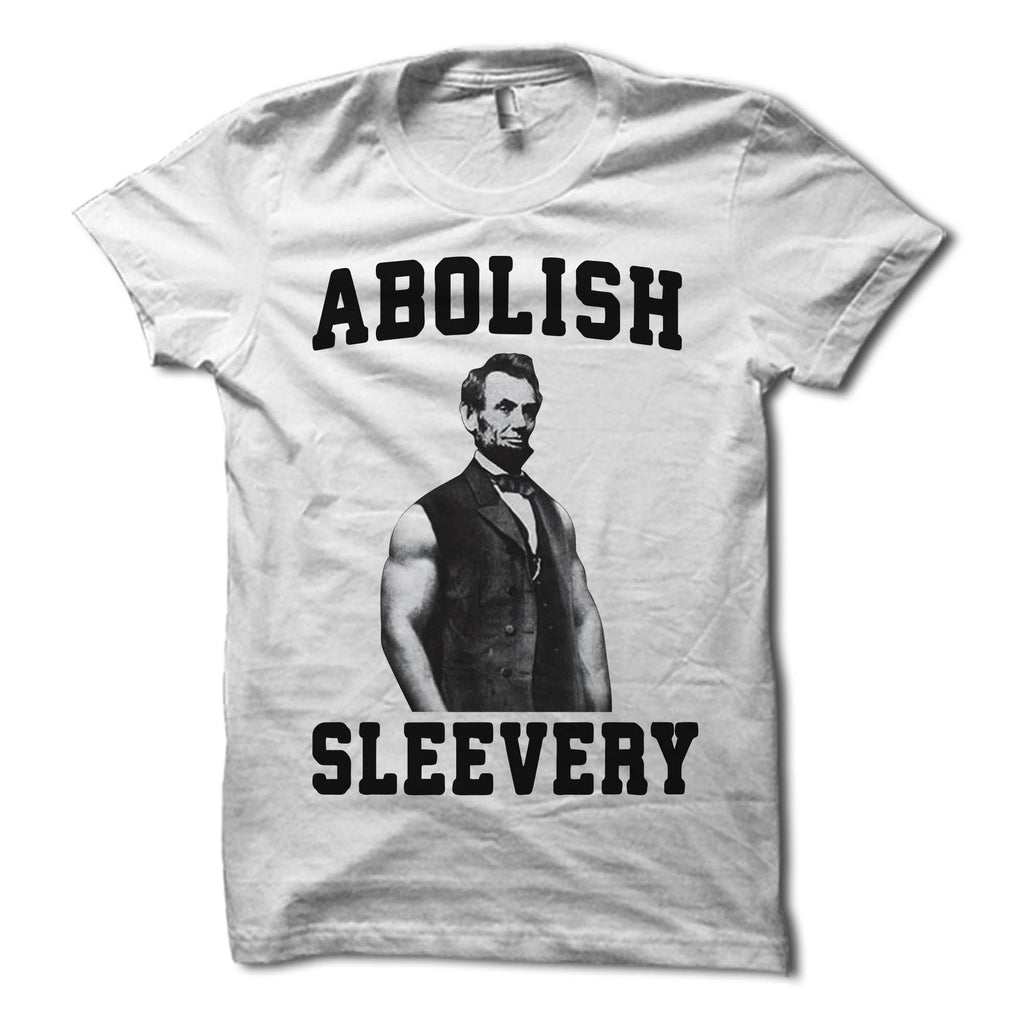 Abe Lincoln abolish sleevery shirt white
