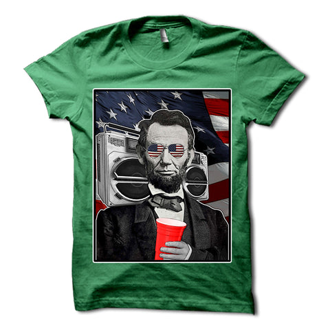 Abraham Lincoln Patriotic Party Shirt Green