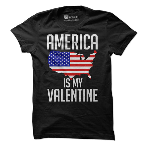 America is my Valentine Shirt