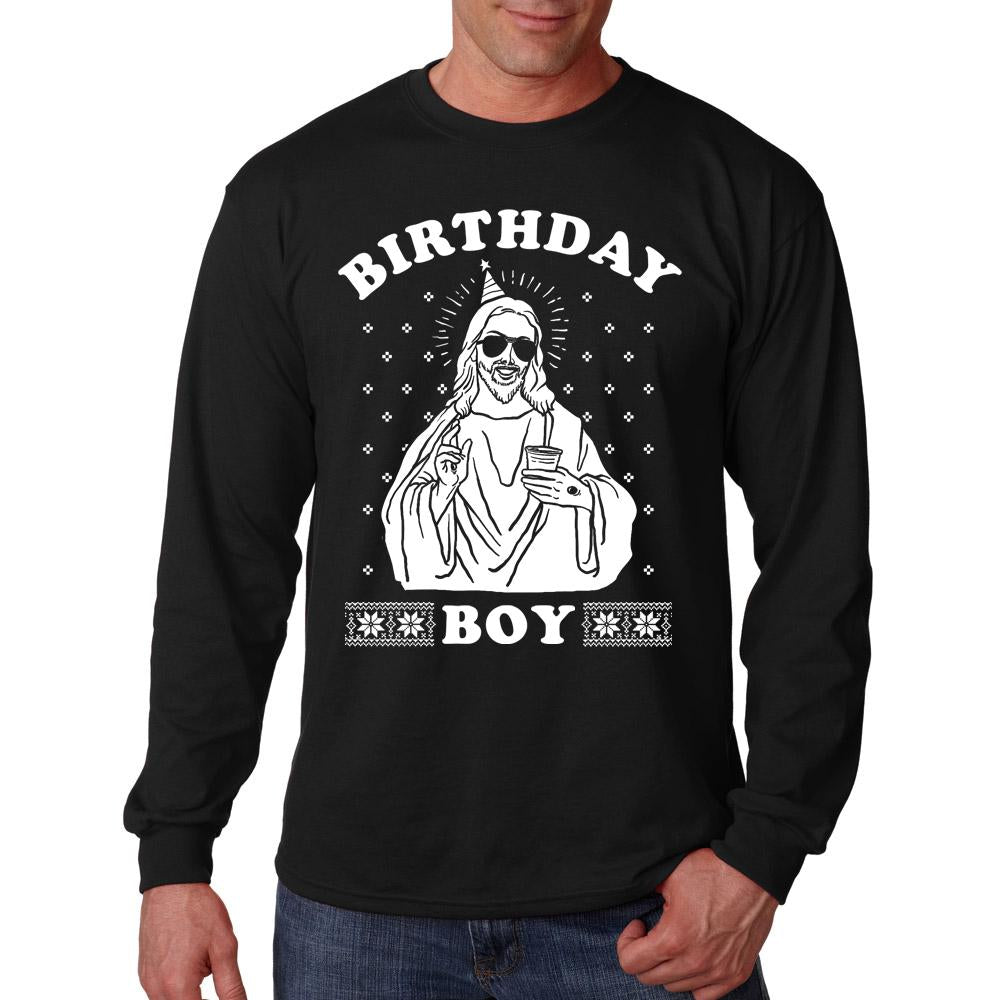 Jesus Birthday Boy Long Sleeve T-Shirt