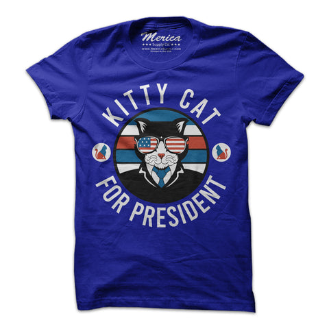 Kitty Cat for President T-Shirt