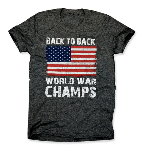 Back to Back World War Champs American Flag Shirt