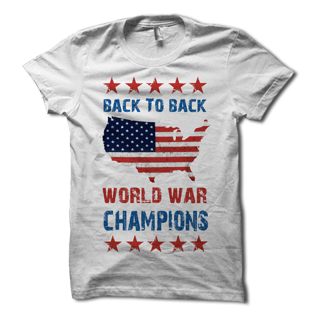 Back to back world war champions shirt white