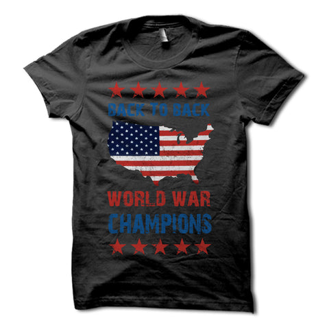 Back to back world war champions shirt black