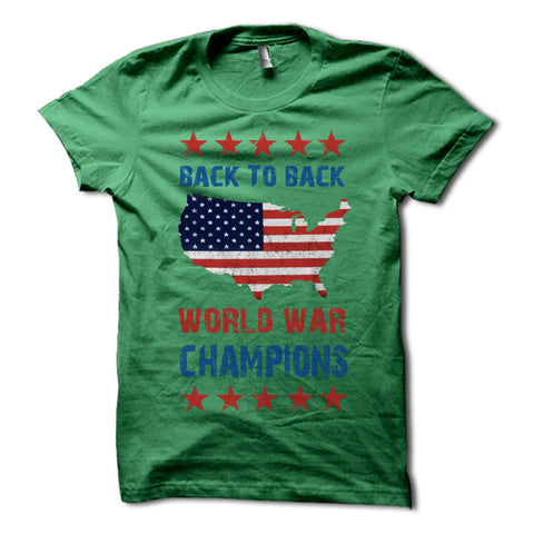 Back to back world war champions shirt green
