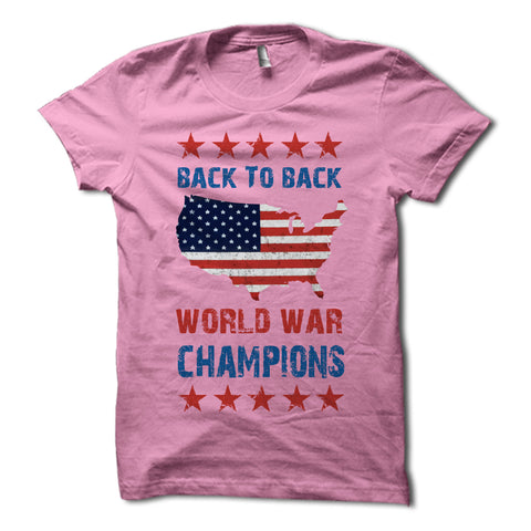 Back to back world war champions shirt pink