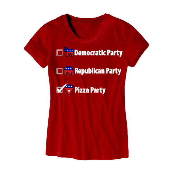 Womens Political Pizza Party T Shirt Merica Supply Co