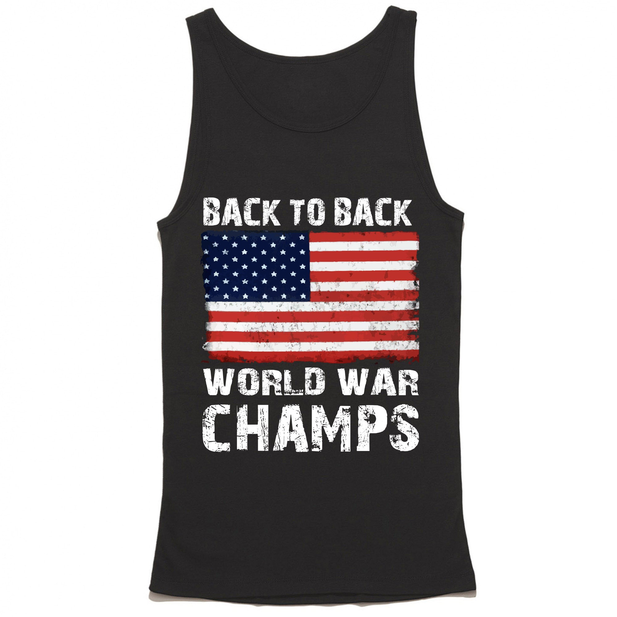Back To Back World War Champs American Flag Tank Top
