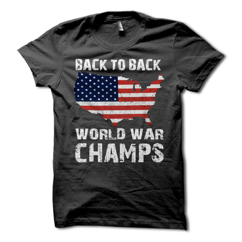 Back to Back World War Champs USA Shirt