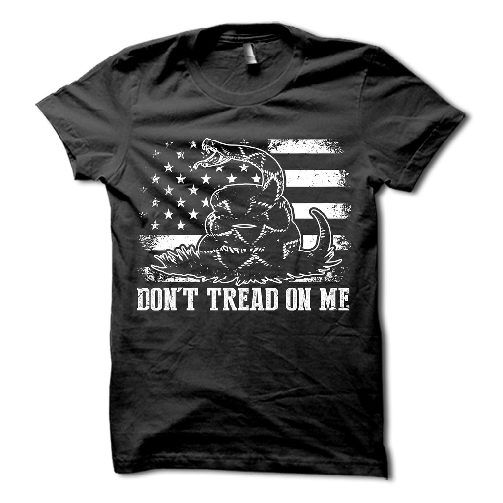 Don't Tread On Me Shirt Black