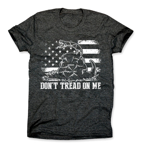 Don't Tread On Me Shirt Charcoal Gray