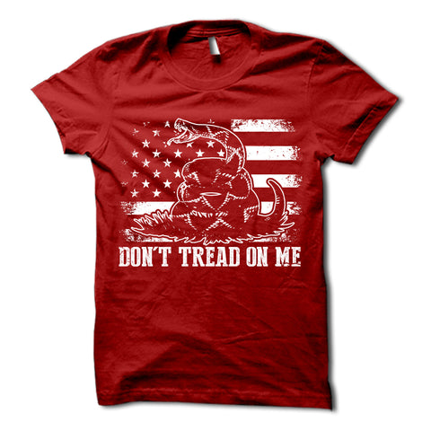 Don't Tread On Me Shirt Red