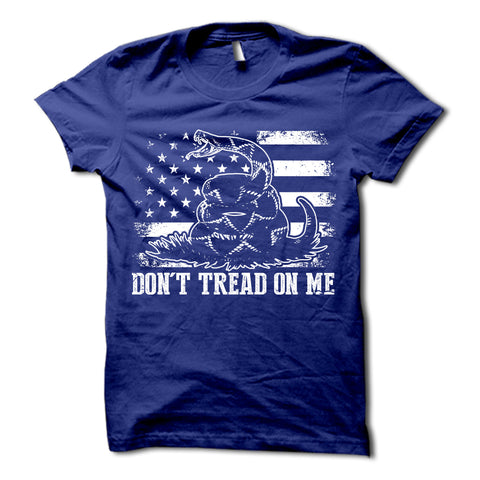 Don't Tread On Me Shirt Blue