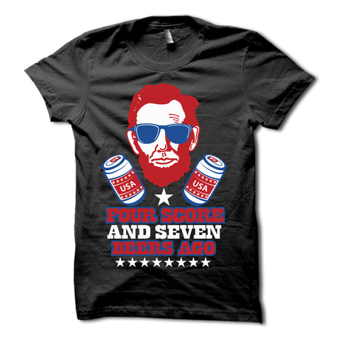 Four Score & Seven Beers Ago Shirt Black