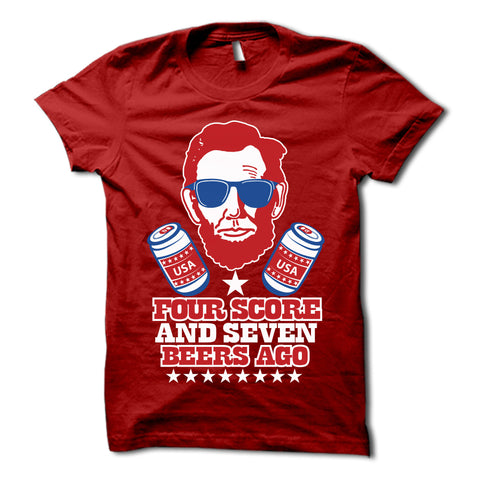 Four Score & Seven Beers Ago Shirt Red