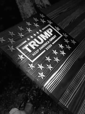Donald Trump 2020 Keep America Great Rustic Wooden Flag