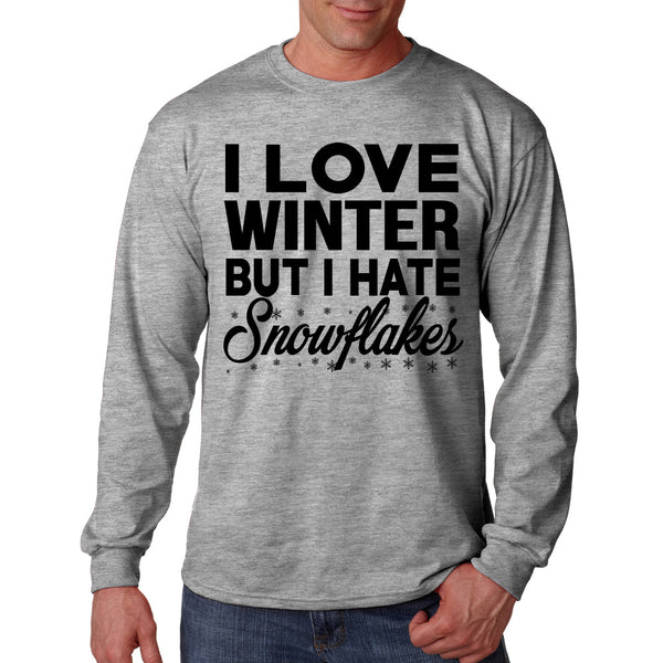 I Love Winter But I Hate Snowflakes Long Sleeve T Shirt