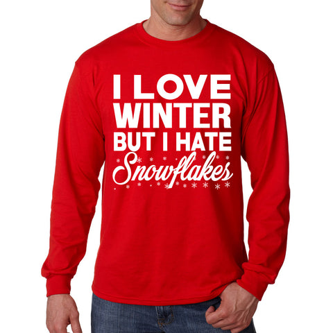 I Love Winter But I Hate Snowflakes Long Sleeve T-Shirt