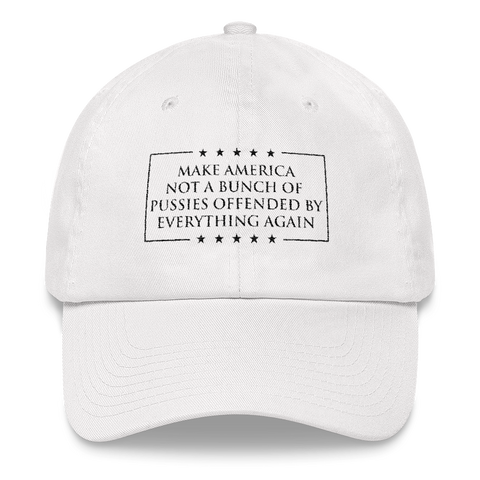 Make America Not A Bunch of Pussies Offended by Everything Again Hat