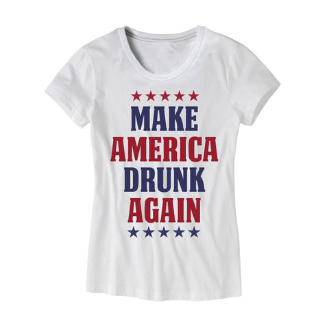 Womens Make America Drunk Again T-Shirt