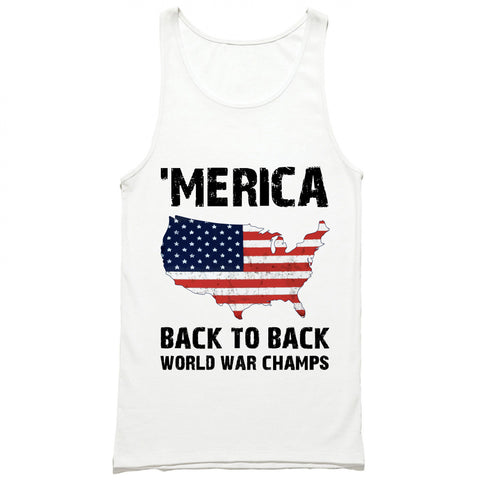 MERICA Back to Back World War Champs USA Tank Top