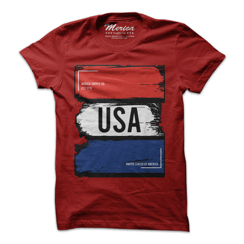 Red White and Blue USA T-Shirt