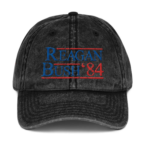 Vintage Reagan Bush 84 Hat