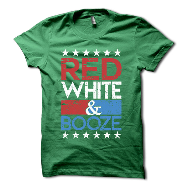 Red White Amp Booze Shirt Funny America Party T Shirt
