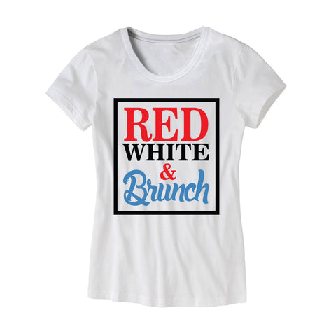 Womens Red White and Brunch T-Shirt
