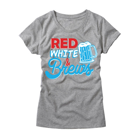 Womens Red White & Brews Shirt