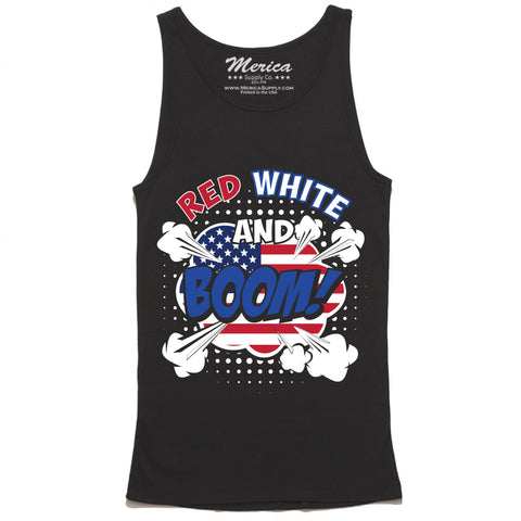 Red White and Boom Tank Top