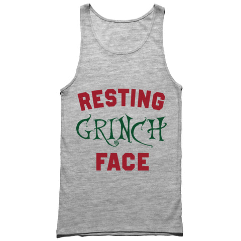 Resting Grinch Face Tank Top