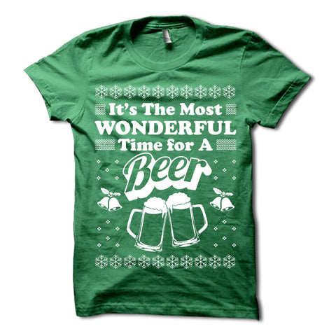 Its The Most Wonderful Time For a Beer Shirt