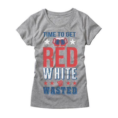Womens Time to Get Red White & Wasted Shirt