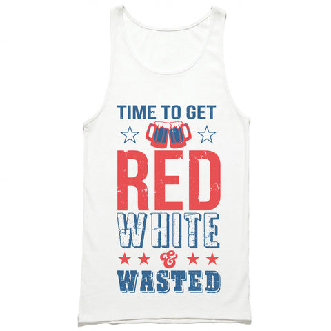 Time To Get Red White & Wasted Tank Top