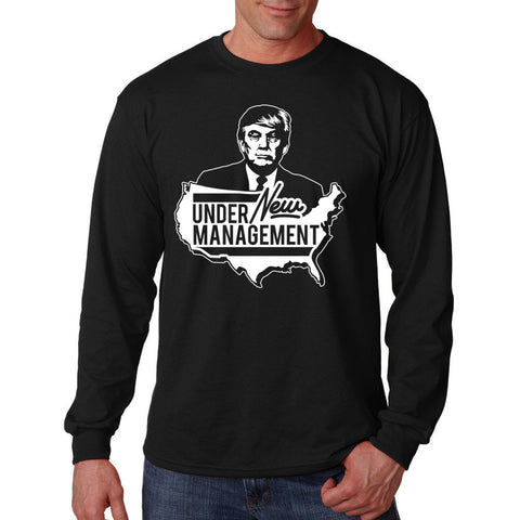 Donald Trump Under New Management Long Sleeve Shirt Black