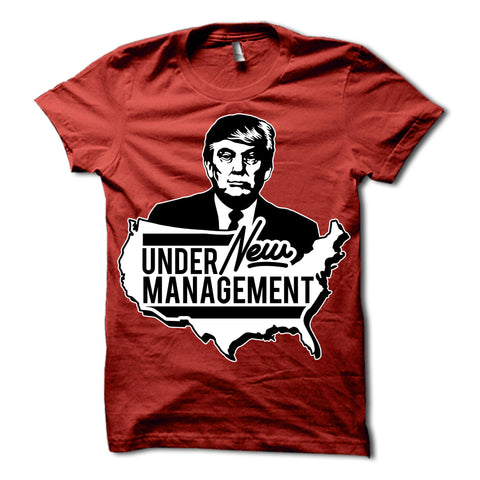 Donald Trump Under New Management Shirt Red