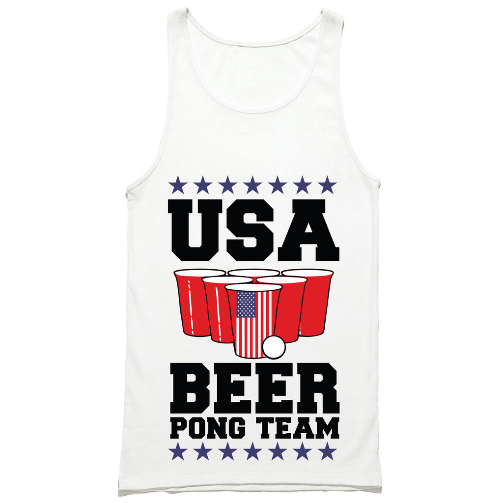 USA Beer Pong Team Tank Top