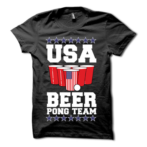 USA Beer Pong Team Shirt