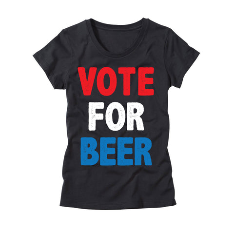 Womens Vote For Beer T-Shirt
