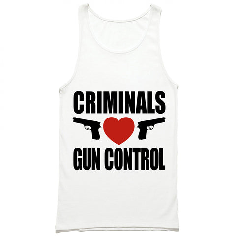 Criminals Love Gun Control Tank Top